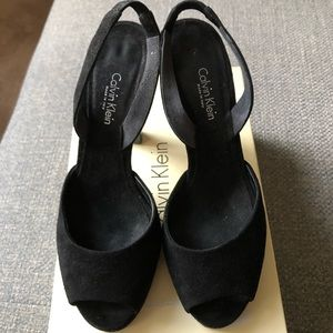 CALVIN KLEIN Black Suede Shoes